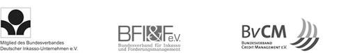 Logos und Siegel der Lexfort Forderungsmanagement GmbH